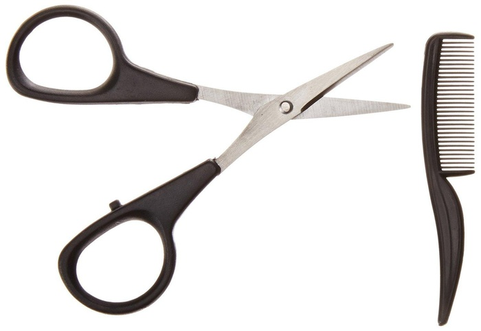 Allary Men s Beard Moustache Scissors and Mini Comb Trimming Kit