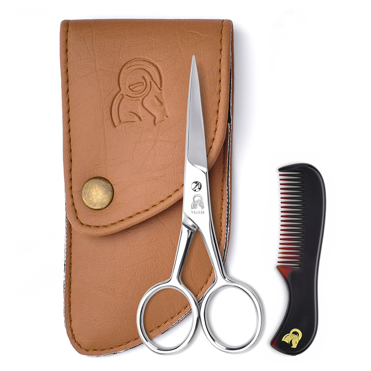 Sally Hansen Moustache Beard Scissors with Comb