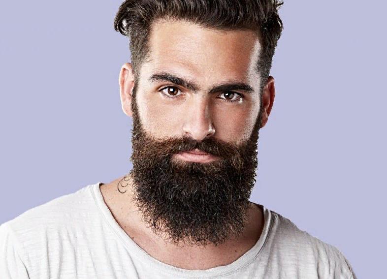 Густая борода после применения средств для роста