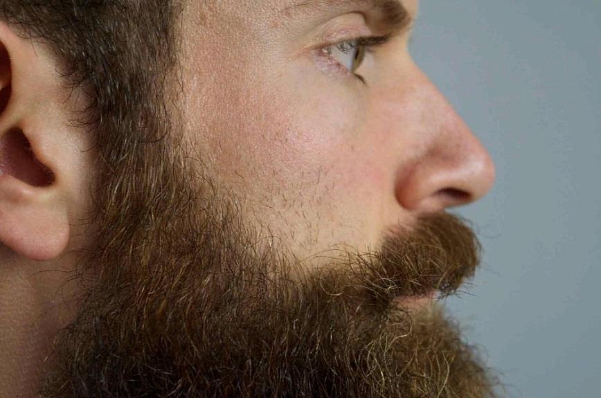 Здоровая борода на щеках