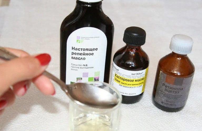 Маски из касторового масла