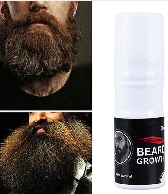 Борода после применения спрея